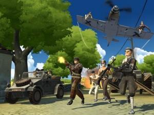 Battlefield Heroes se ambienta en la Segunda Guerra Mundial... pero el enemigo es una caricatura.