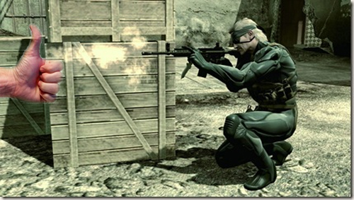 Metal Gear Solid 4 recreado por pulgares