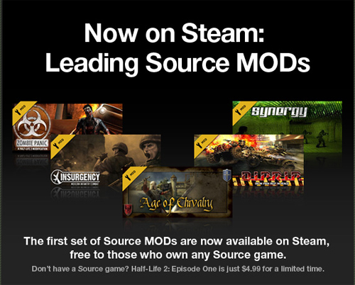 Tal como anunciamos: Steam está regalando mods del Source