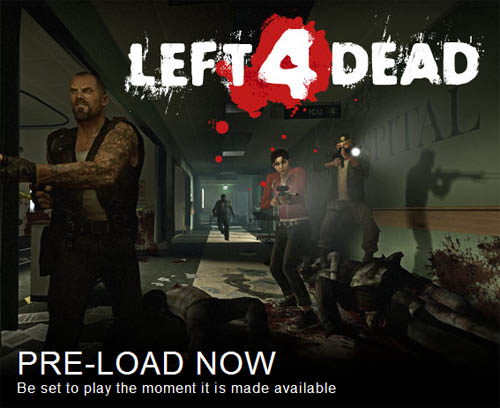 Comienza el pre-load de Left 4 Dead Retail en Steam