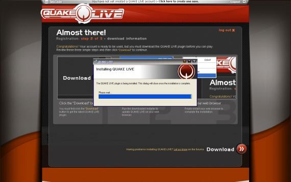 Una vez que el cliente se ha instalado debemos reiniciar el navegador