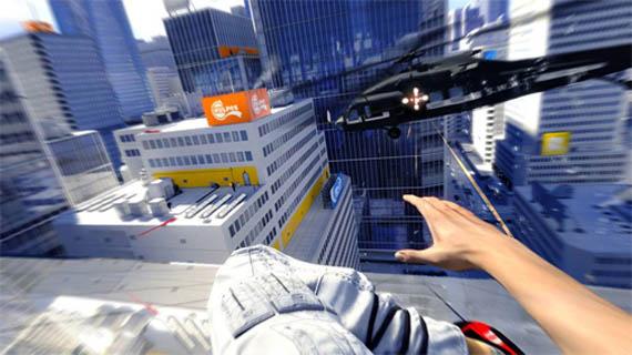 Mirror's Edge controlado con Wii Balance Board.