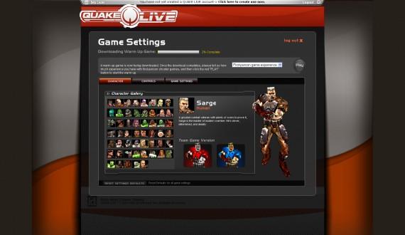 Esta es la pantalla en la que podemos escoger a nuestro personaje