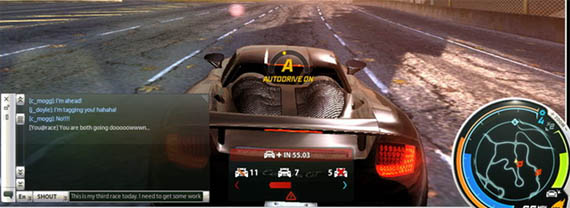 Solitaria screenshot de Need for Speed World Online nos muestra la Interfaz de Usuario