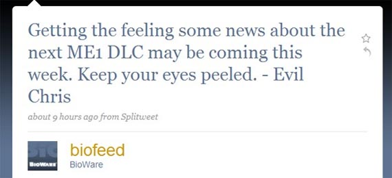 Anuncio sobre el nuevo DLC para Mass Effect podría llegar esta semana