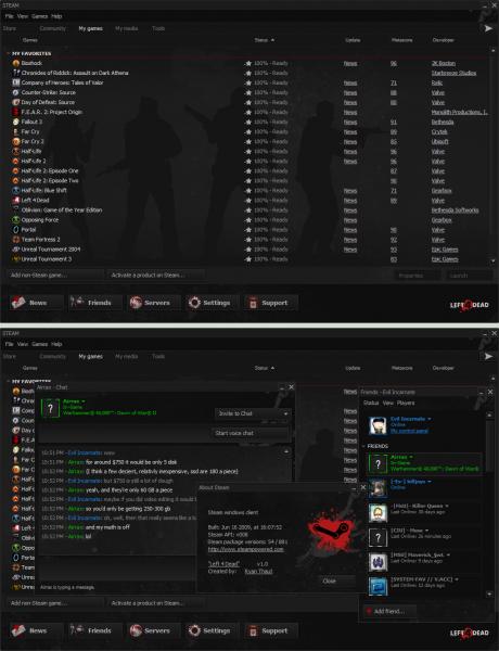 Captura completa del Skin Left 4 Dead para el Cliente Steam