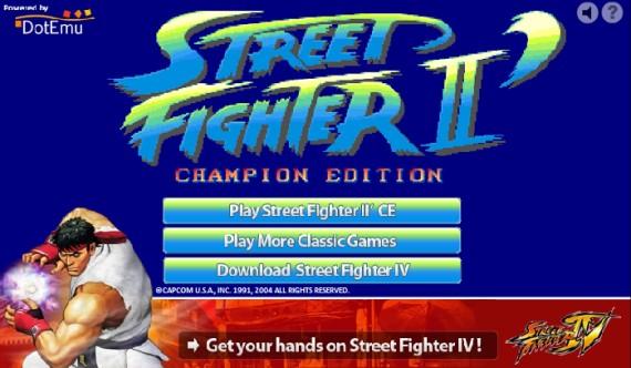 Celebra la salida de Street Fighter IV jugando en tu navegador [Street Fighter 2 CE - Online]