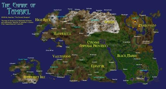 ¿Que tan gigantes son los mapas de The Elder Scrolls? [Nota Dominical]
