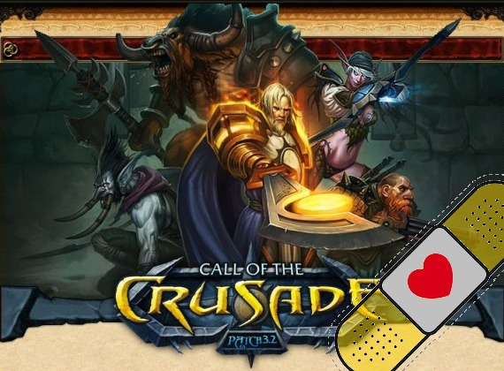 Nuevo parche World of Warcraft: Call of the Cruzade 3.2 ya disponible.