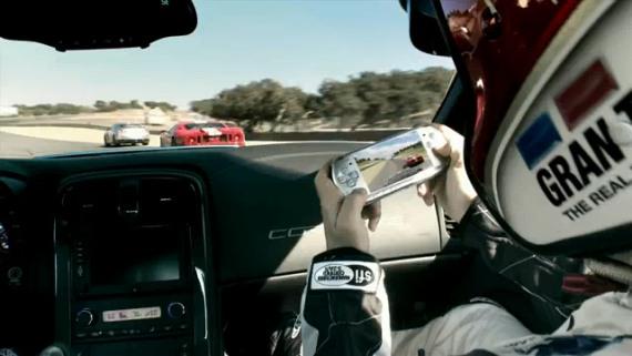 Gran Turismo® (PSP): Corvette ZR1 VS. PSP-TV Ad [Tras Bastidores]