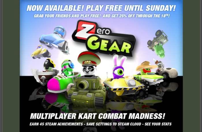 Zero Gear, Gratis hasta el Domingo. [Lanzamiento]