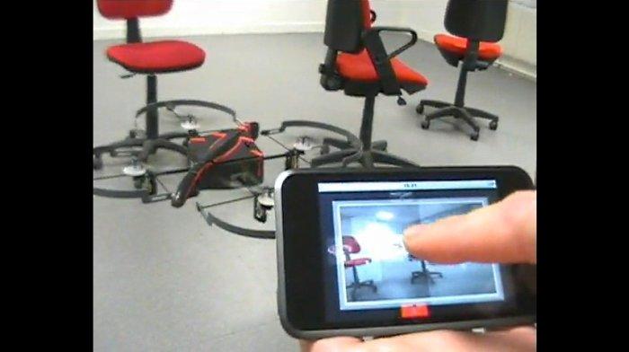 Cuadricóptero Parrot AR.Drone asombra al público en la CES 2010