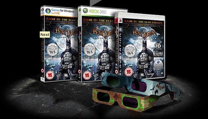 Batman: Arkham Asylum GOTY también llegará con lentes 3D a América [Trailer]