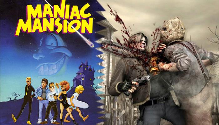 Maniac Mansion+Resident Evil=OMG!