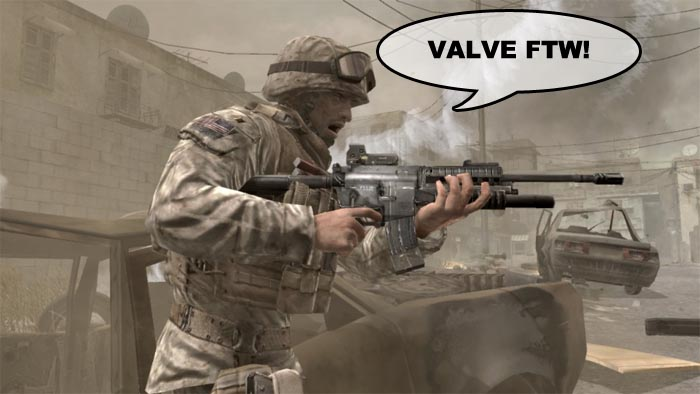 Modern Warfare 2 en Steam: Miles de baneos accidentales, Valve compensa con una copia de Left 4 Dead 2 [WELOVEVALVE]
