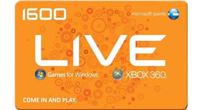 xbox live microsoft points gratis