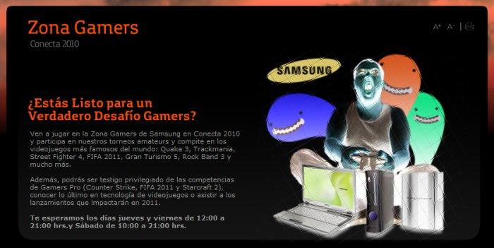 Copa Samsung, Conecta 2010 [Zona Gamers 16-17-18 Diciembre]