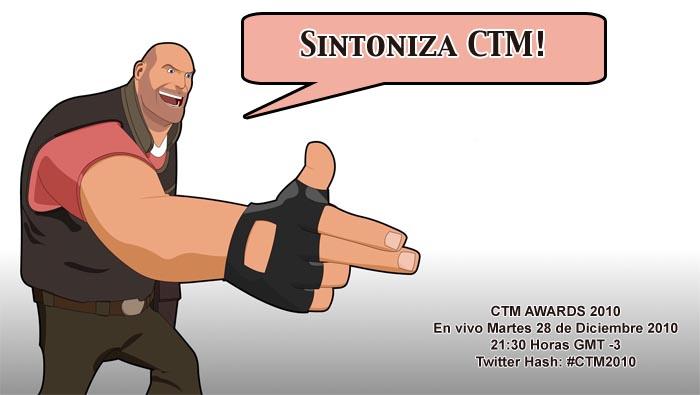 Mañana Martes 28 se realizarán los CTM Awards 2010, nosotros participaremos! [Eventos LIVE]