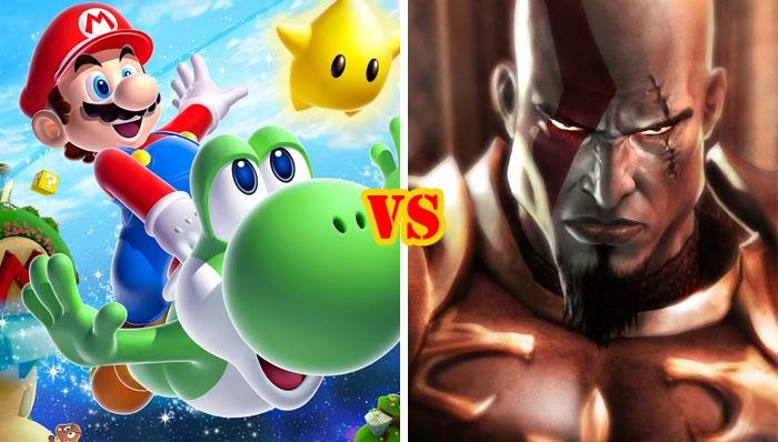 Super Mario Galaxy 2 vs God of War III