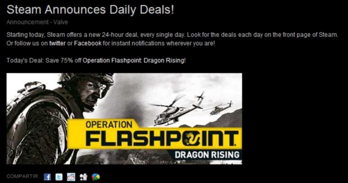 Desde hoy en adelante, una oferta diaria en Steam [Ofertas FTW!!]