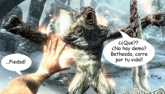 ¿Querían demo de Elder Scrolls V Skyrim? Mis polainas! [FAIL]