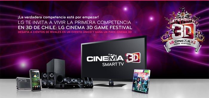 Premios, Regalos, Juegos en 3D, A LA CARGA!!!: LG Cinema 3D Game Festival [EVENTOS QUE LA LLEVAN]