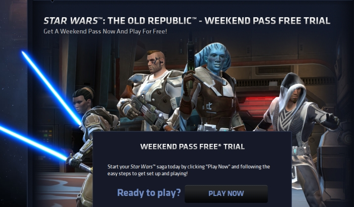Fin de semana gratuito para Star Wars: The Old Republic [MMO FTW!!!]