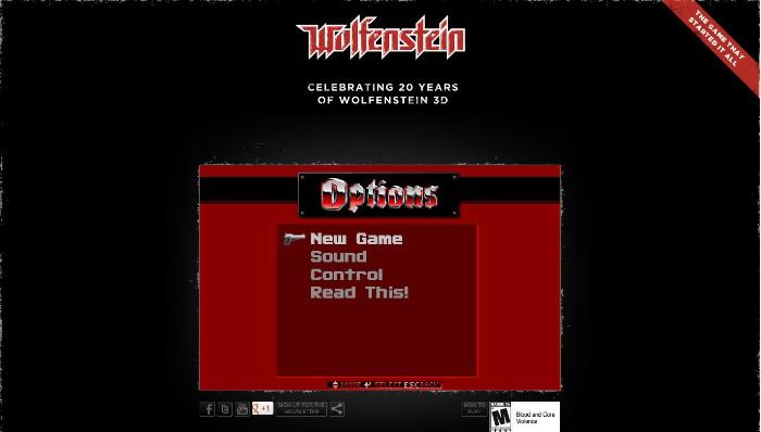 Celebren el 20º Aniversario de Wolfestein 3D jugándolo gratis por navegador [Aniversario FTW]
