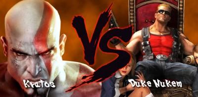 Kratos-vs-Duke-Nukem