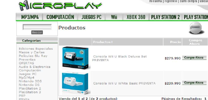 Confirmado el precio de la WiiU en chile [Ahorro mode on]