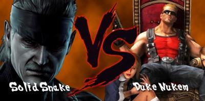 Solid-Snake-vs-Duke-Nukem