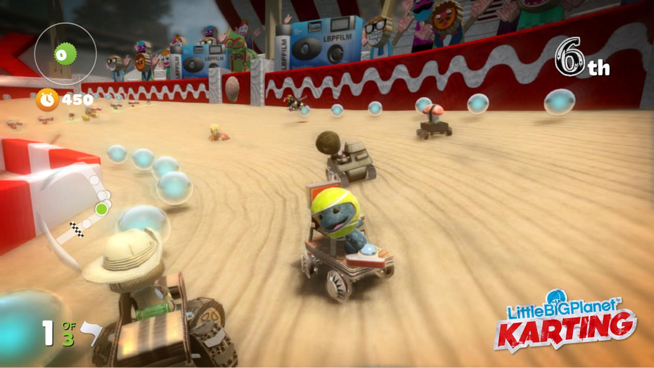 LagZero Analiza: LittleBig Planet: Karting [Speed Review]