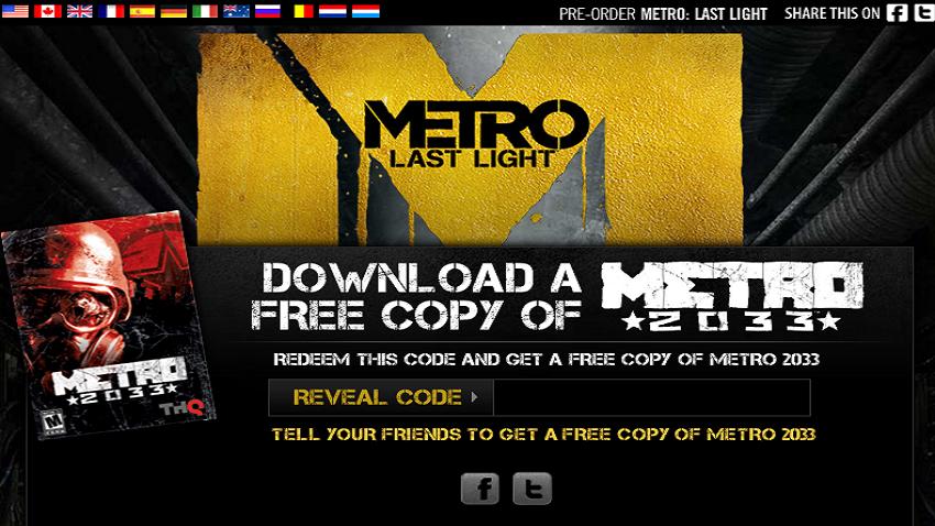 THQ regala keys para Metro 2033 [FELIZ NAVIDAD!]