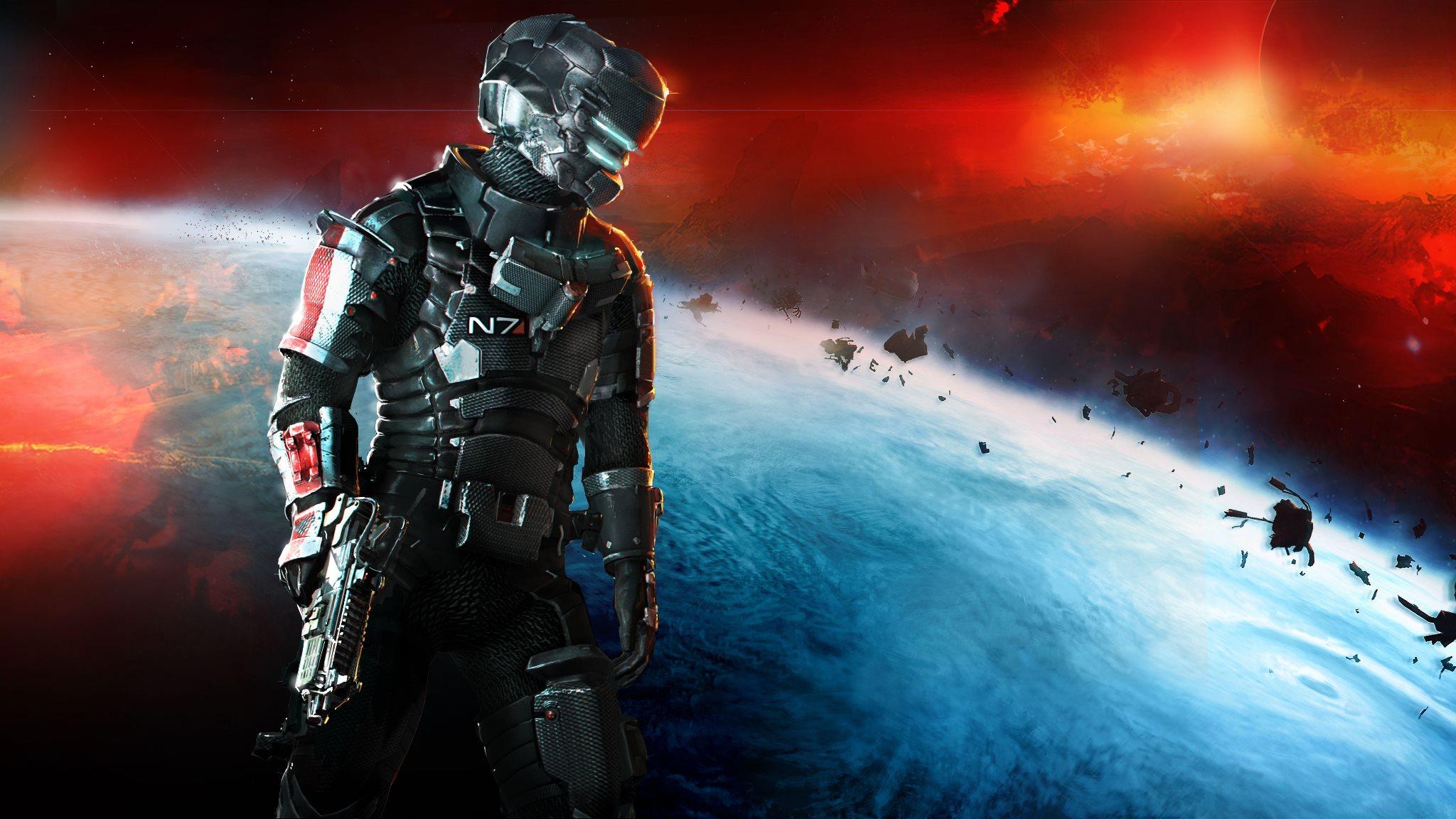 Si tienes Mass Effect 3 puedes jugar con la armadura N7 en Dead Space 3 [Vídeo]