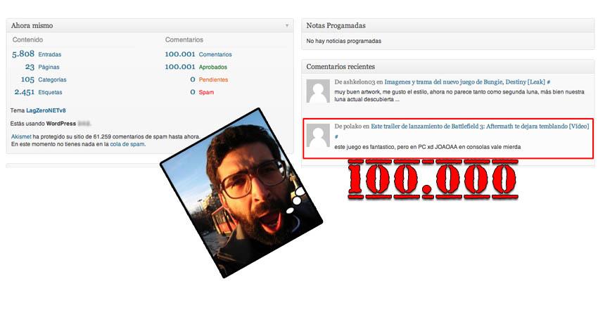 El comentario 100.000 en LagZero ha llegado … y viene con un premio [Comunidad]