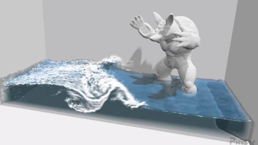 ¿Que es lo ultimo de PhysX?, agua que obedece las leyes de la física [Vídeo]