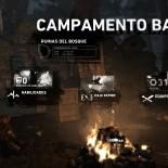 Interfaz del campamento base o fogata.
