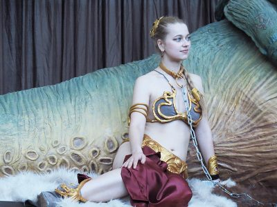 Cosplay de Leia slave