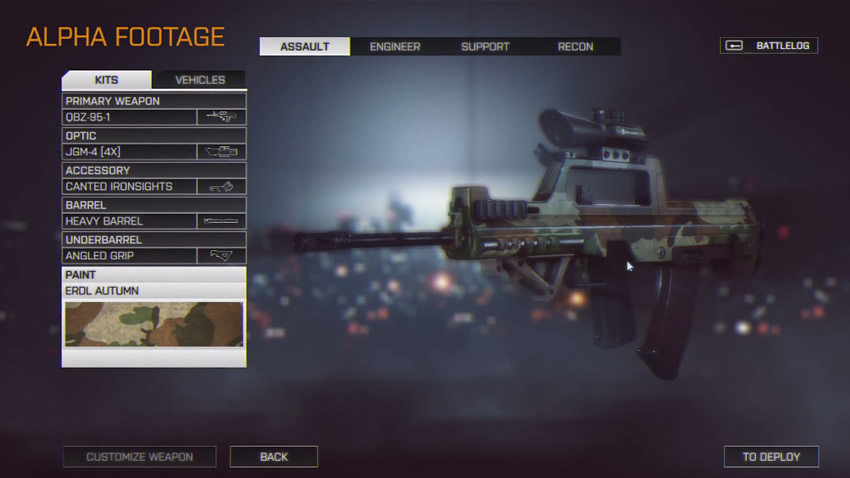 DICE explica un poco las nuevas opciones de personalización de armamento en Battlefield 4
