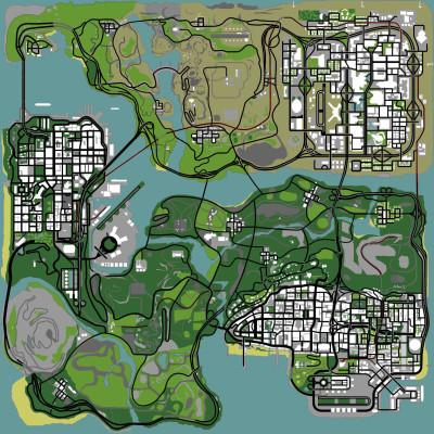 Foto del Mapa original de GTA: San Andreas