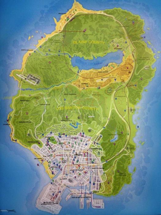 Foto filtrada del mapa de GTA V