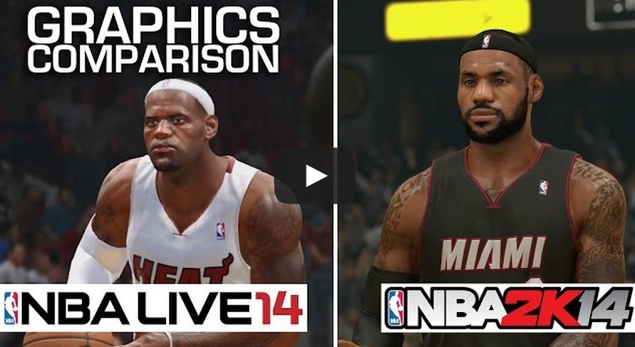 NBA 2K14 vs NBA Live 14 [VIDEO]