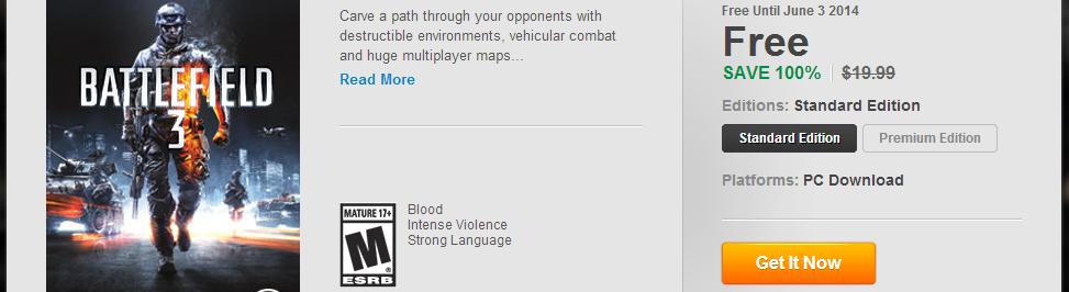 Battlefield 3 gratis en Origin! [CHAAARGE!!]