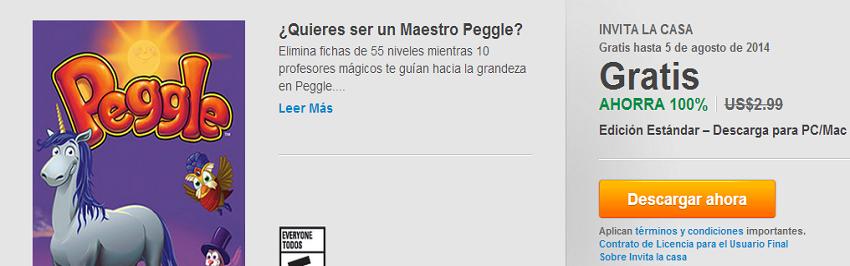 Peggle gratis en Origin [LA CASA INVITA NIUS]
