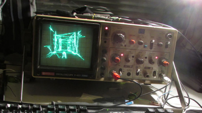 Jugando en donde menos lo esperas: Quake corriendo en un osciloscopio