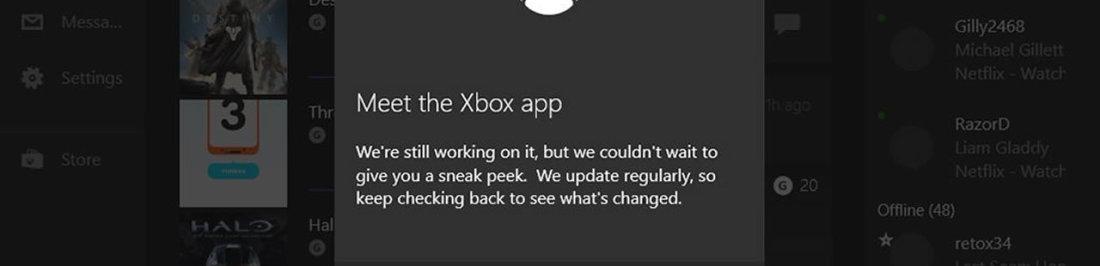 Windows 10 vendra con una aplicación para revisar tu cuenta de Xbox Live [M$ ¿cuando aprenderá?]