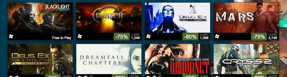 Super ofertón de juegos cyberpunk en Steam [Shut up and take my money!]