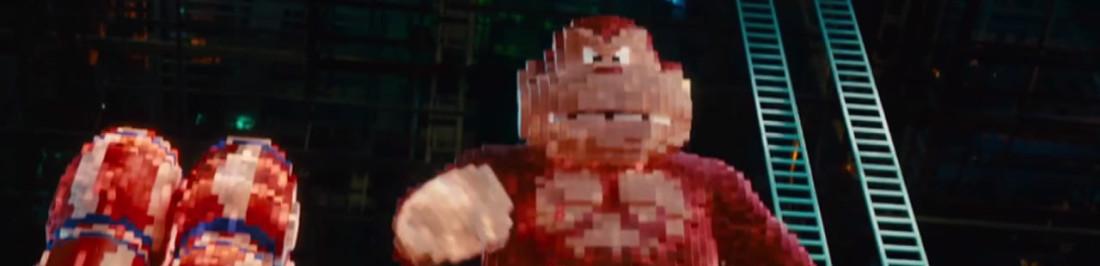 Pixels la próxima película de Adam Sandler, es como una condena para el pobre Donkey Kong y Pac-Man