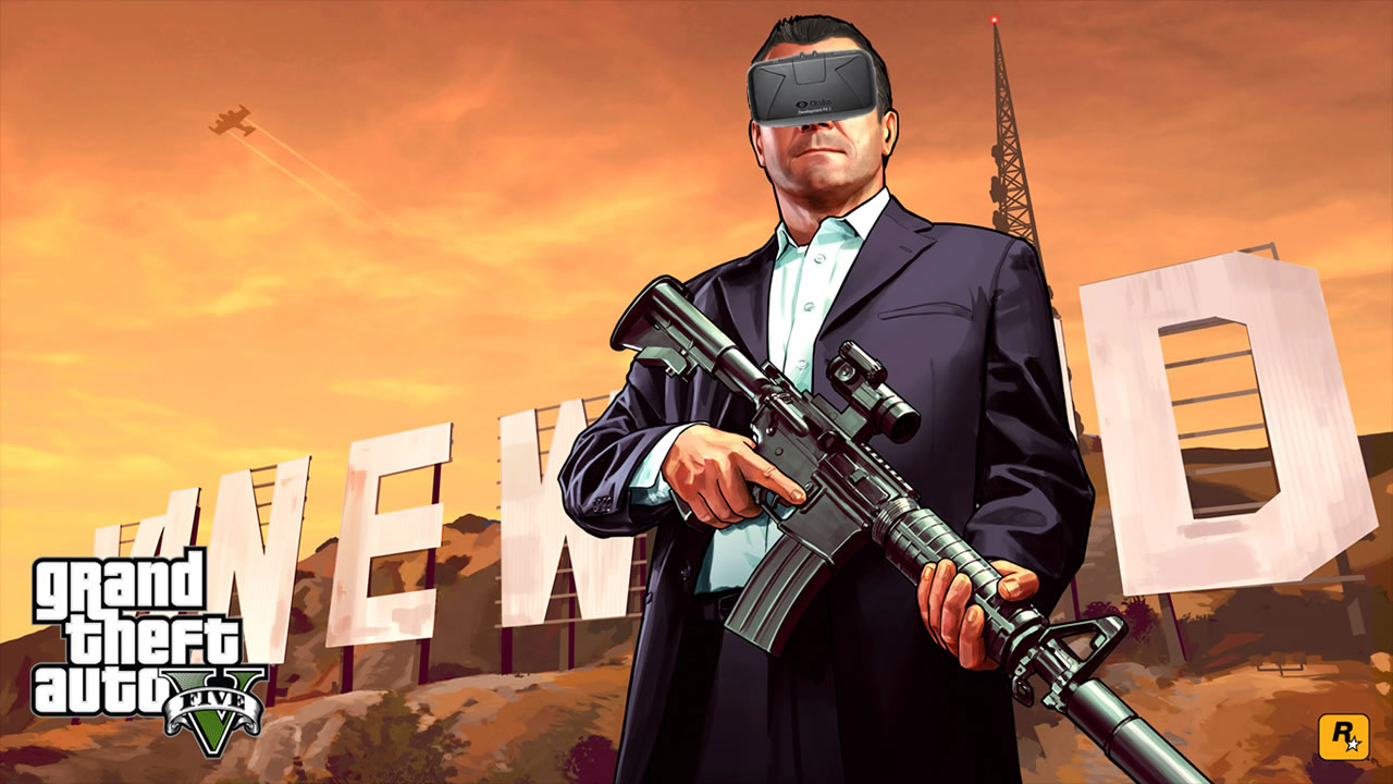 Algunos jugadores probando GTA V con Oculus Rift #justmasterracethings