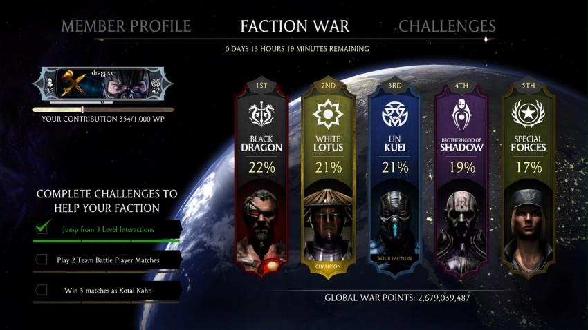 Las facciones
